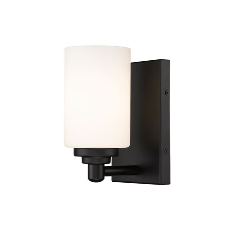 Soledad Matte Black One-Light Wall Sconce