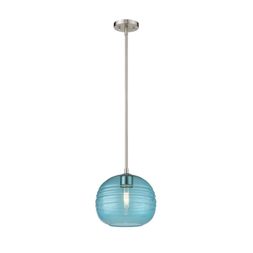 Harmony Brushed Nickel and Blue 10-Inch One-Light Pendant