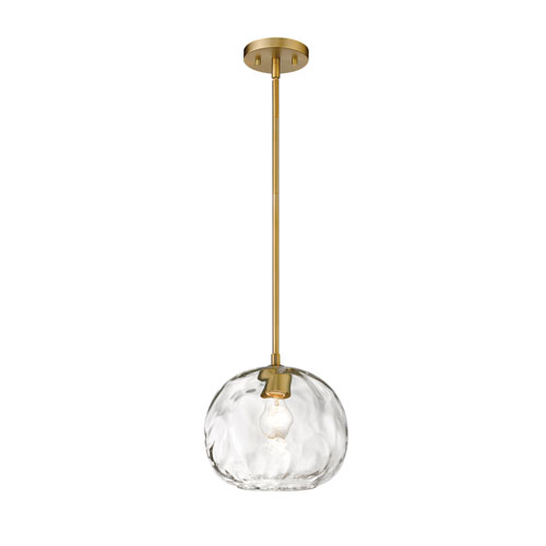 Chloe Olde Brass 10-Inch One-Light Pendant
