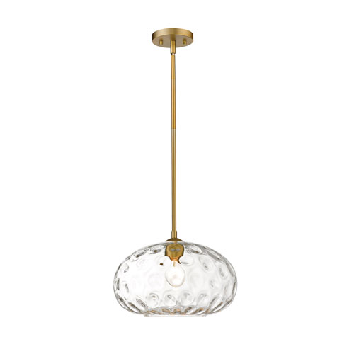 Chloe Olde Brass 14-Inch One-Light Pendant