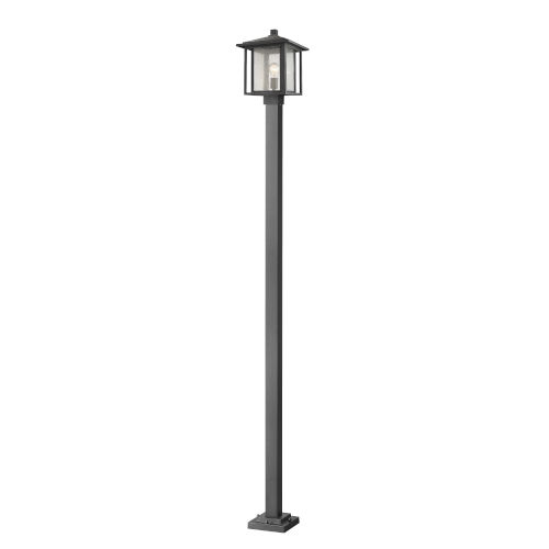 Aspen Black One-Light Outdoor Post Mount