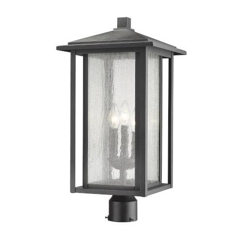 Aspen Black 22-Inch Three-Light Outdoor Post Mount
