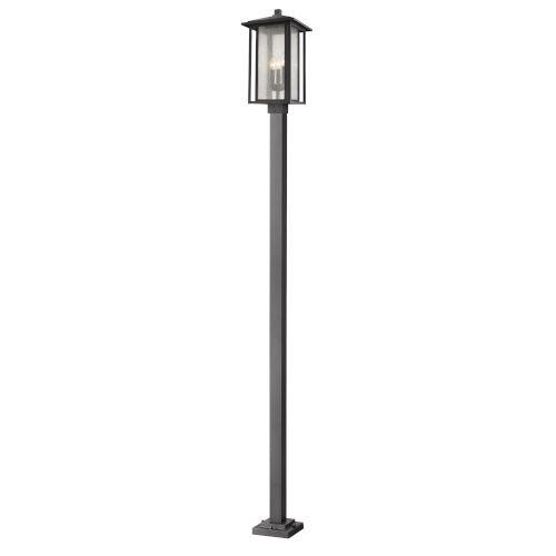 Aspen Black 117-Inch Three-Light Outdoor Post Mount
