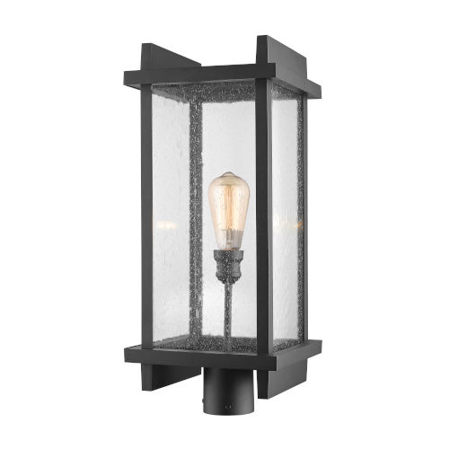 Fallow Black 23-Inch One-Light Outdoor Post Mount