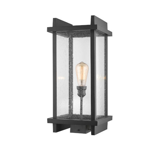 Fallow Black One-Light Outdoor Post Mount