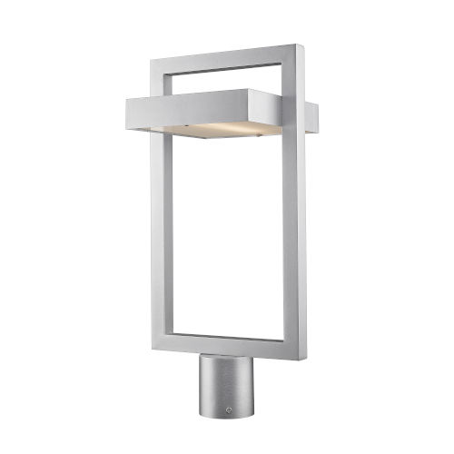 Luttrel Silver LED Outdoor Post Mount with Frosted Glass