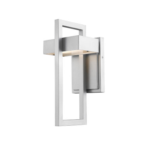 Luttrel Silver LED Outdoor Wall Sconce with Frosted Glass