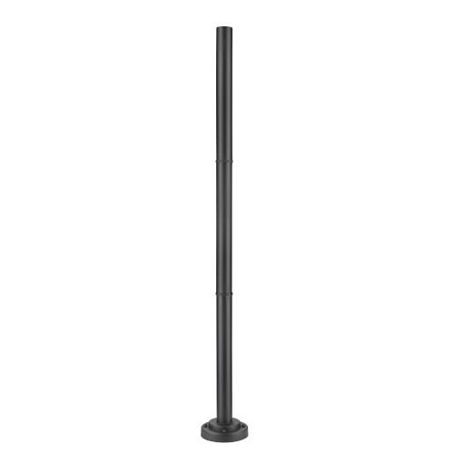 Black 76-Inch Outdoor Post