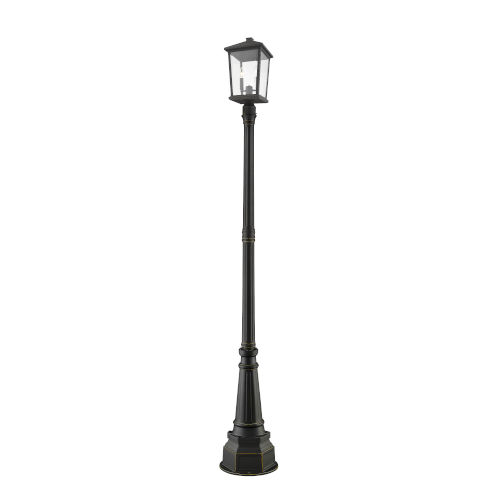 Beacon Oil Rubbed Bronze Two-Light Outdoor Post Mounted Fixture