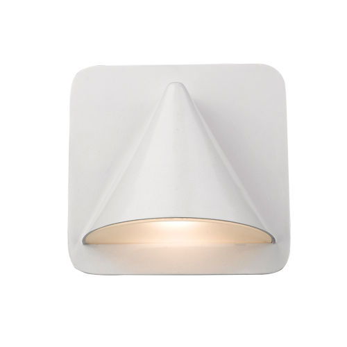 Obelisk White LED One-Light Outdoor Wall Sconce With Sand-blast glass