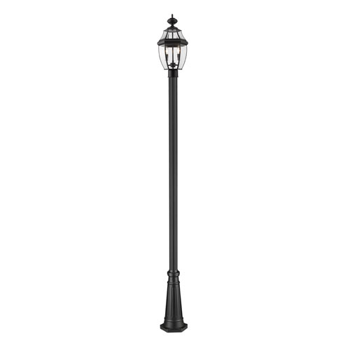 Westover Black 112-Inch Two-Light Outdoor Post Mount