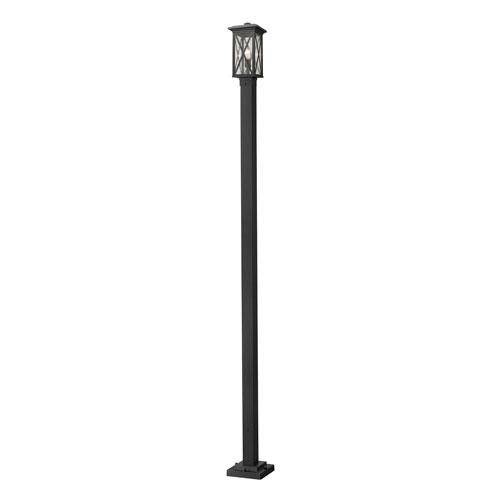 Brookside Black 9-Inch One-Light Outdoor Post Mount