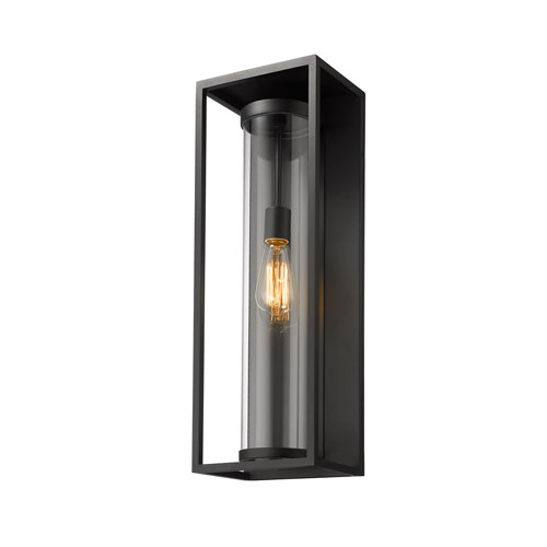 Dunbroch Black 24-Inch One-Light Outdoor Wall Sconce