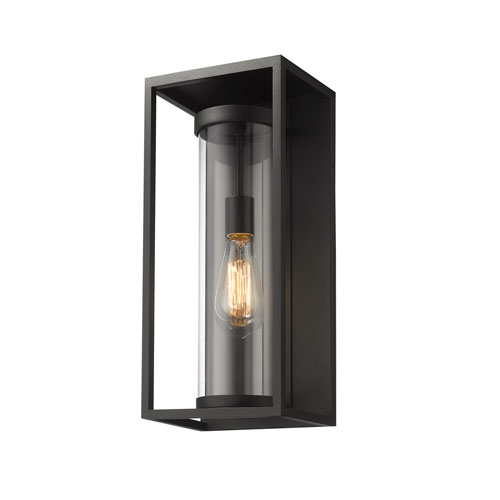 Dunbroch Black 18-Inch One-Light Outdoor Wall Sconce