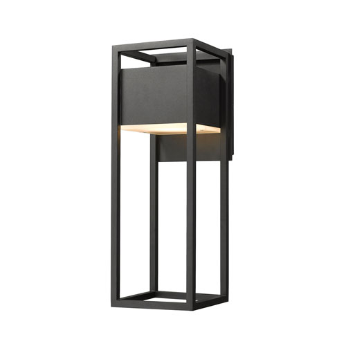 Barwick Black 7-Inch One-Light LED Outdoor Wall Sconce