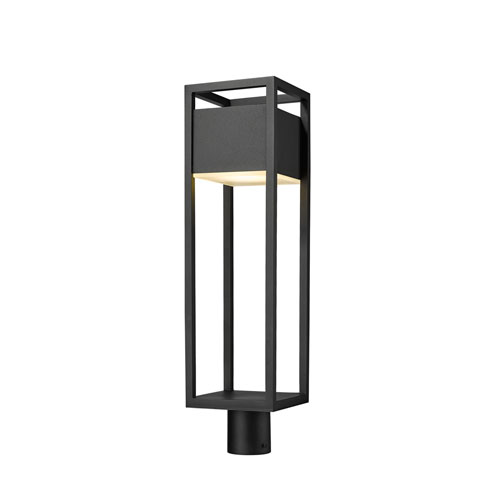 Barwick Black 27-Inch One-Light LED Outdoor Post Mount