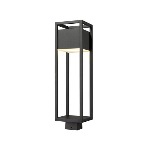 Barwick Black 26-Inch One-Light LED Outdoor Post Mount
