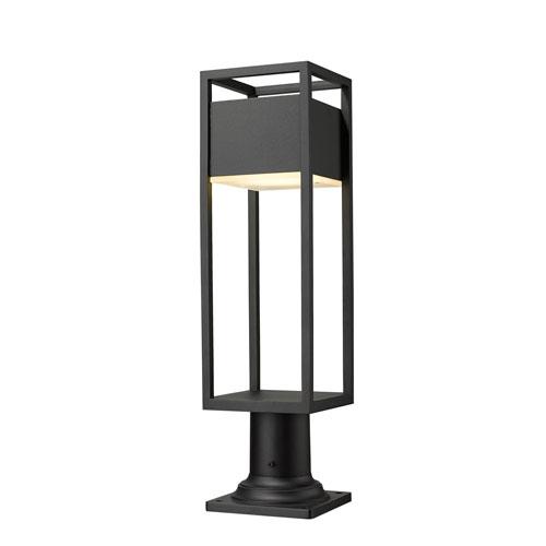 Barwick Black 23-Inch One-Light LED Outdoor Pier Mount