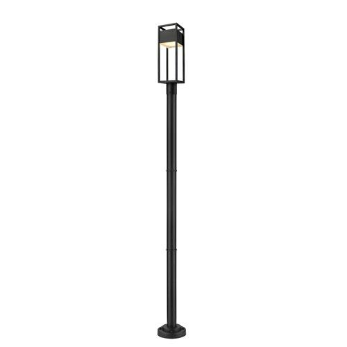 Barwick Black 95-Inch One-Light LED Outdoor Post Mount