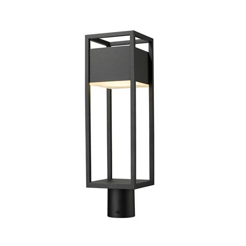 Barwick Black 21-Inch One-Light LED Outdoor Post Mount