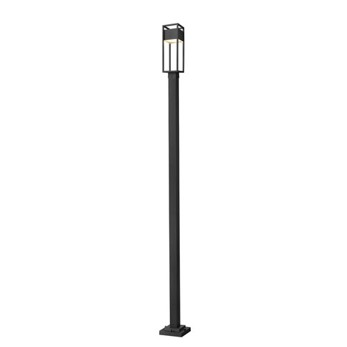 Barwick Black 114-Inch One-Light LED Outdoor Post Mount
