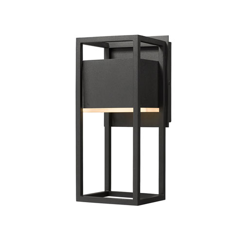 Barwick Black 6-Inch One-Light LED Outdoor Wall Sconce