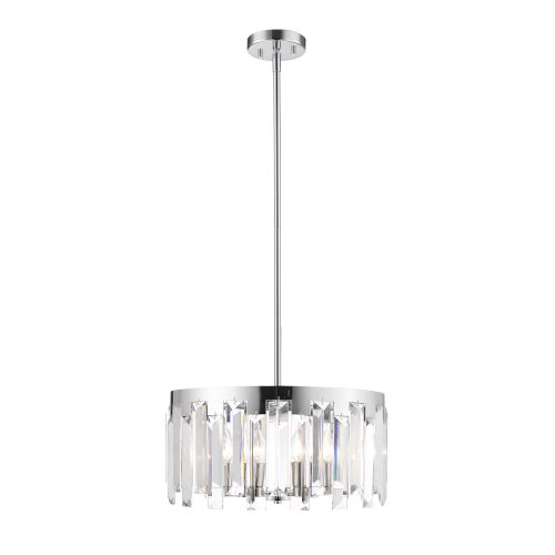 Cormac Chrome Five-Light Chandelier With Transparent Crystal