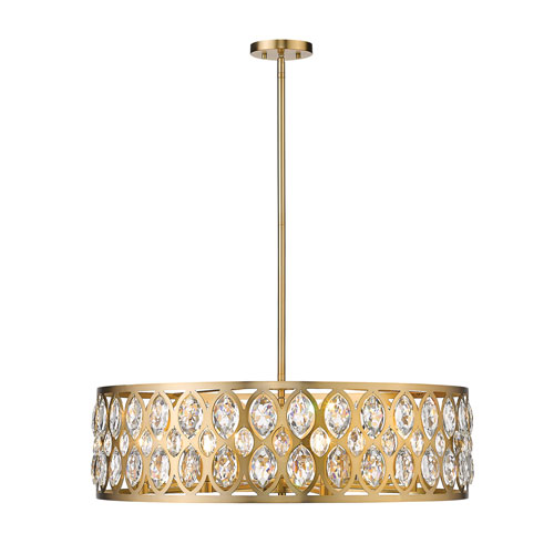 Dealey Heirloom Brass Eight-Light Chandelier