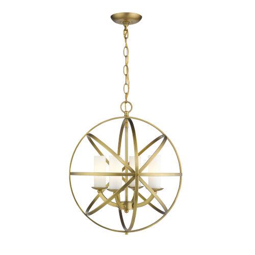 Aranya Heirloom Brass Four-Light Pendant
