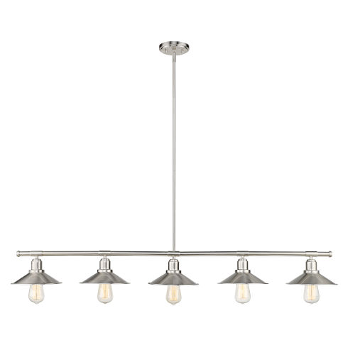 Casa Brushed Nickel Five-Light Mini Pendant