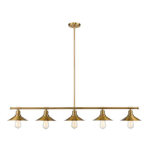 Casa Factory Brass Five-Light Pendant