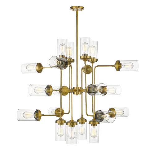Calliope Foundry Brass 20-Light Chandelier