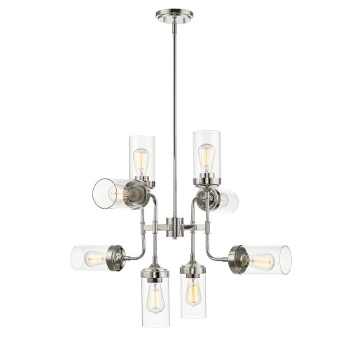 Calliope Polished Nickel Eight-Light Chandelier