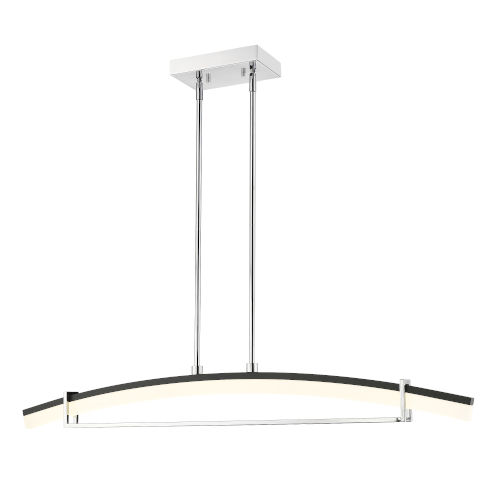 Arc Chrome LED One-Light Chandelier