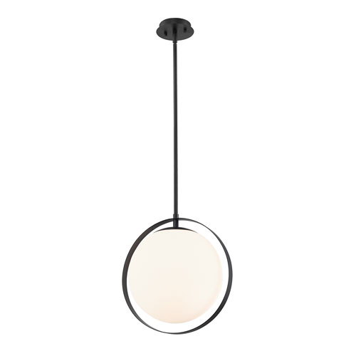 Midnetic Matte Black One-Light Pendant