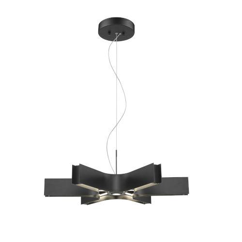 Arcano Matte Black Six-Light LED Pendant