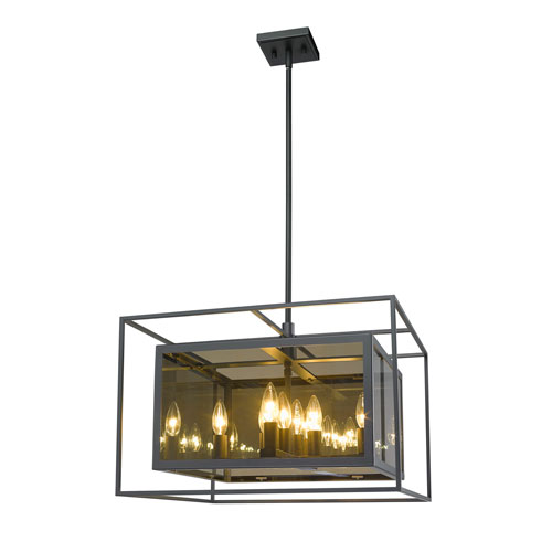 Infinity Misty Charcoal Eight-Light Pendant