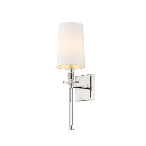 Sophia Polished Nickel One-Light Wall Sconce
