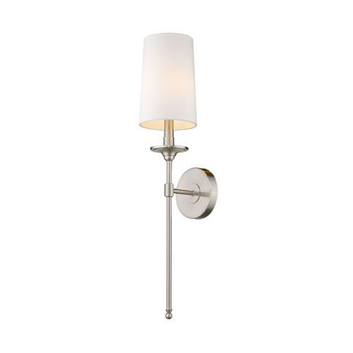 Emily Brushed Nickel One-Light Wall Sconce