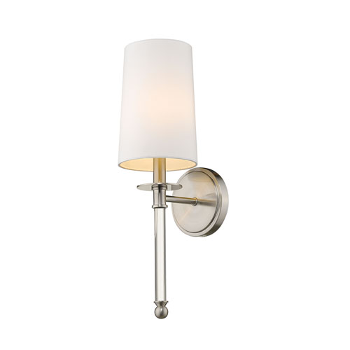 Mila Brushed Nickel One-Light Wall Sconce