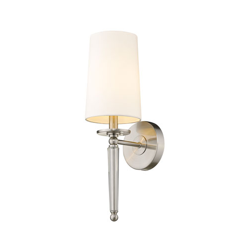Avery Brushed Nickel One-Light Wall Sconce