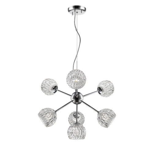 Laurentian Chrome Seven-Light Pendant