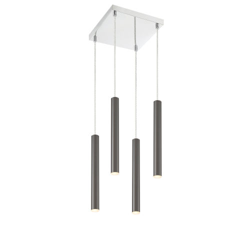 Forest Pearl Black LED Four-Light Mini Chandeliers