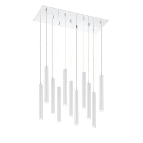 Forest Matte White LED 11-Light Mini Chandeliers