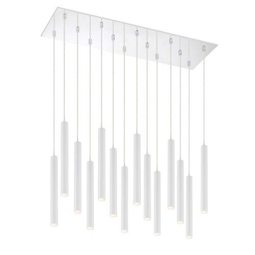Forest Matte White LED 14-Light Mini Chandeliers