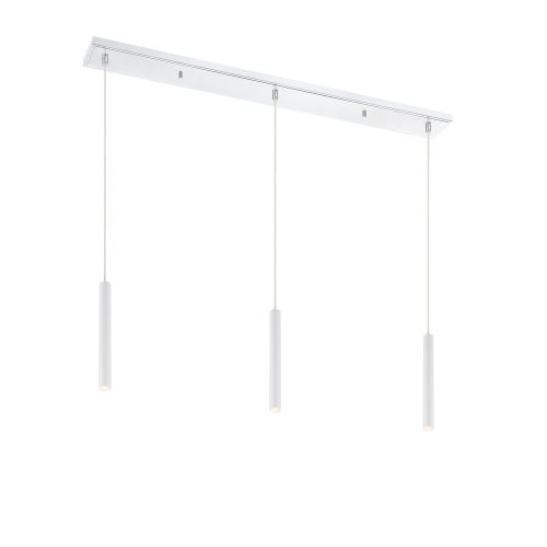 Forest Matte White LED Three-Light Mini Chandeliers