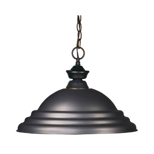 Z-Lite Riviera Olde Bronze Olde Bronze One Light Pendant Light