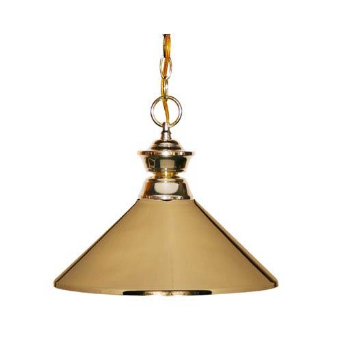 Polished Brass One-Light Pendant