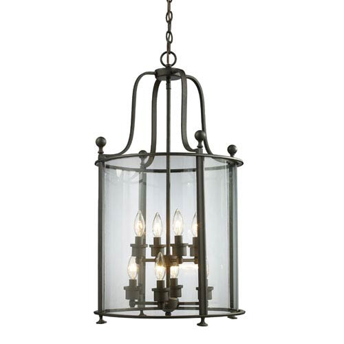 Z-Lite Wyndham Bronze Eight-Light Lantern Pendant