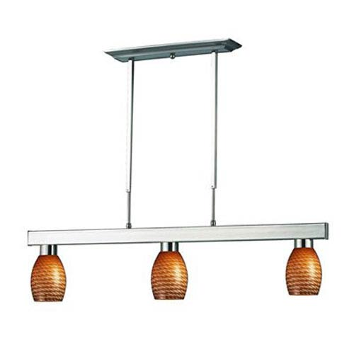 Z-Lite Players Brushed Nickel 8-Inch Three Light Billiard Fixture
